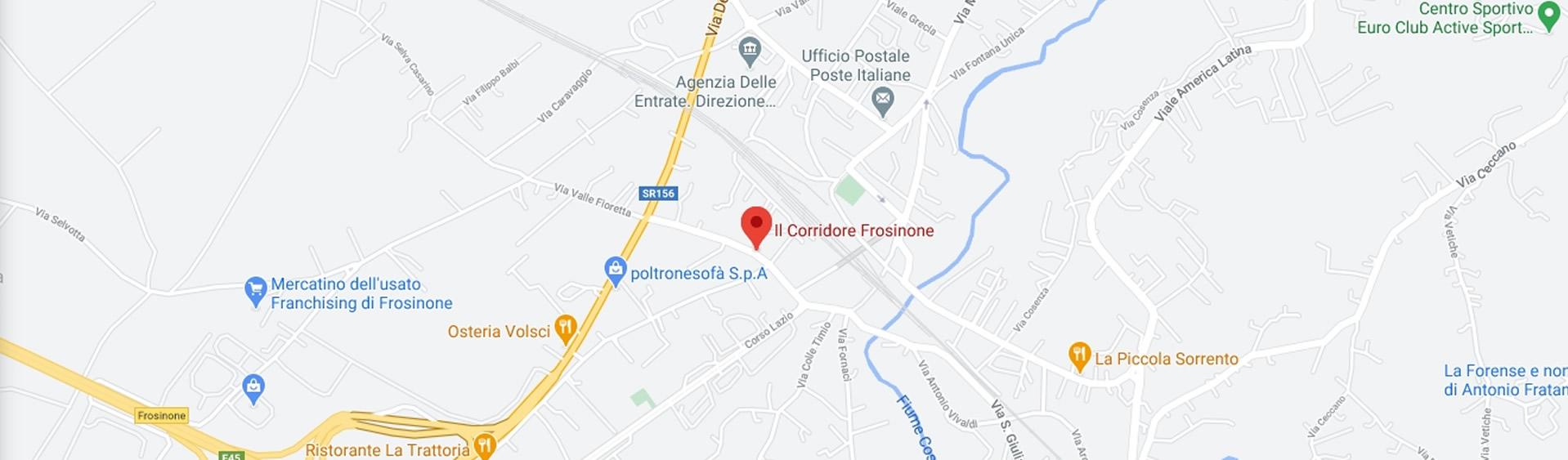 MAPPA IL CORRIDORE FROSINONE