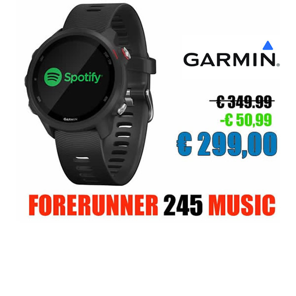 fore runner 245 music per punto it